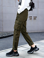 cheap -Women's Hiking Pants Hiking Cargo Pants Winter Outdoor Warm Soft Comfortable Multi Pocket Cotton Pants / Trousers Bottoms Camping / Hiking / Caving Traveling Black Green Khaki XS S M L XL