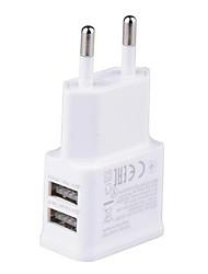 Недорогие -5v 2a ес разъем двойной usb порты настенное зарядное устройство адаптер портативный путешествия быстрая зарядка мобильного телефона быстрая зарядка головы двойной usb