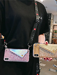 cheap -Case For Samsung Galaxy Note10/Note10 Plus Glitter Patch Note9/Note8 Coin Purse With Lanyard Note3/Note4/Note5 Diagonal Anti-drop Mobile Phone Case