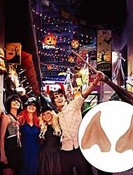 Недорогие -1 пара латексные уши эльфа остроконечные косплей маска аксессуары хэллоуин маскарад вечеринка аниме сказочные костюмы