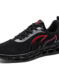 cheap -Men's Comfort Shoes Mesh Fall Athletic Shoes Basketball Shoes Black / White / Red