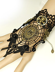 cheap -Women's Black Vintage Bracelet Ring Bracelet / Slave bracelet Earrings / Bracelet Vintage Style Skull Spiders Statement Vintage Trendy Gothic Fashion Alloy Bracelet Jewelry Black For Halloween Club