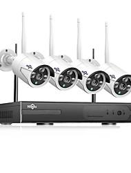 cheap -Hiseeu 3MP Wireless CCTV System3MP 4CH Powerful NVR IP IR-CUT CCTV Camera IP Security System Surveillance Kits