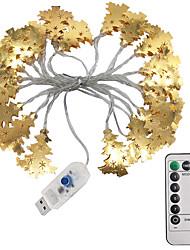cheap -3m Golden Wrought Iron Christmas Tree String Lights 20 LEDs 1 13Keys Remote Controller Warm White Creative LED Christmas Lantern Party Decorative 5 V 1 set