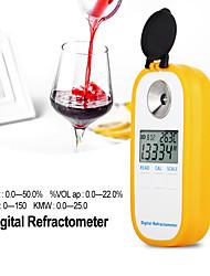 cheap -DR401  Digital Display Refractometer Brix 0-50% Alcohol Range 022% Refractometer Beer Wine Fruit Grape Sugar Saccharimeter