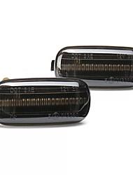 cheap -2PCS Dynamic Flowing LED Side Marker Lights Turn Signal Lamp for Audi A4 S4 B6 B7 A6 C5 TT A8