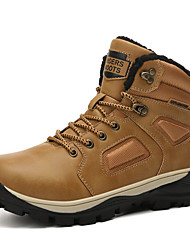 cheap -Men's Hiking Shoes Anti-Slip Wearable Comfortable Hiking Outdoor Exercise Fall & Winter Red+Brown Black Khaki