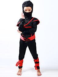 cheap -Ninja Halloween Props Kid's Boys' Halloween Halloween Festival / Holiday Knitting Black Carnival Costumes