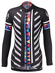 cheap -21Grams Women's Long Sleeve Cycling Jersey Winter Fleece 100% Polyester Dark Navy Bike Jersey Top Mountain Bike MTB Road Bike Cycling Thermal / Warm UV Resistant Breathable Sports Clothing Apparel