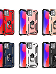 cheap -Case For Apple iPhone 11/11 Pro/11 Pro Max/XS Max/ iPhone XR / iPhone XS/7 8 PLUS/7 8 /6SPLUS/6S Shockproof / with Stand / Ring Holder Back Cover Armor PU Leather