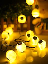 abordables -1.5m 10 led globe oculaire guirlande lumineuse fête halloween jour maison carnaval célébration occasion spéciale décoration batteries alimenté 1set