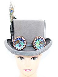 cheap -100% Wool / Feathers Headwear with Feather / Cap / Gore 1 Piece Special Occasion / Party / Evening Headpiece