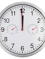 cheap -Wall Clock,Modern Contemporary Wall Hanging Glasses Plastic & Metal Round Indoor