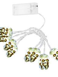 cheap -skull light string 3.0M holiday lights Halloween skull bone light string light chain party decoration light 20 LED