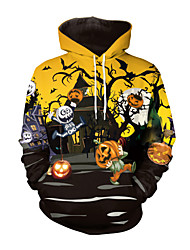 cheap -Skeleton / Skull Cosplay Costume Adults' Men's Stylish Halloween Halloween Festival / Holiday Spandex Fabric Polyster Yellow Men's Carnival Costumes / Top