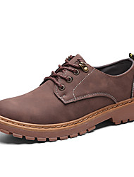 cheap -Men's Suede Shoes Suede Summer / Fall Casual / British Boots Walking Shoes Non-slipping Black / Brown / Khaki / Outdoor / Combat Boots