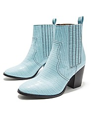 cheap -Women's Boots Chunky Heel Pointed Toe PU Mid-Calf Boots Fall & Winter Black / Blue