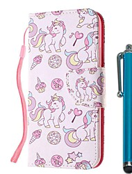 cheap -Case For Xiaomi Redmi Note 8 Pro / Redmi Note 8 / Redmi Note 7 Pro Wallet / Card Holder / with Stand Ice Cream Unicorns PU Leather / TPU for Redmi Note 7 / Redmi 8 / Redmi 8A / Mi CC9 / Mi CC9e
