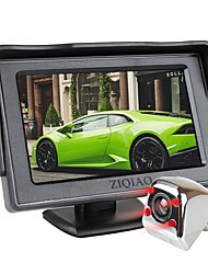 cheap -ZIQIAO 4.3 Inch TFT LCD Screen Car Monitor Auxiliary Parking IR Light Night Vision Rear View Camera