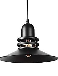 Недорогие -старинные промышленные подвесные светильники черный металлический оттенок подвесные светильники гостиная столовая спальня диаметр 30 см