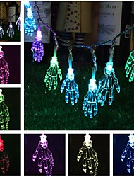cheap -1.2M 10 LEDs Ghost Hand Shape String Lamp Halloween Skeleton Night Light Terror String Light for Halloween Party Home Supplies
