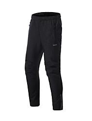 cheap -Arsuxeo Men's Cycling Pants Winter Fleece Elastane Bike Pants / Trousers Windbreaker Thermal Warm Sports Black Mountain Bike MTB Road Bike Cycling Clothing Apparel Advanced Semi-Form Fit Bike Wear