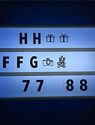 Недорогие -1 шт. A6 розовый корпус кинотеатр лайтбокс ночник дети поделки доска объявлений с черными буквами / цифрами ааа аккумулятор с питанием от портативного кинотеатра (поставляются без батареи)