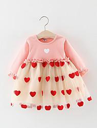cheap -Kids Girls' Heart Lace Dress Yellow