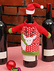 cheap -Wine Bags & Carriers / Gift Bags / Decoration Kits Holiday / Family Non-woven Cartoon / Party Christmas Decoration