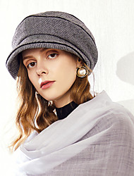 cheap -Wool / Polyester Hats with Stripe 1pc Casual / Daily Wear Headpiece