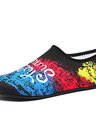 cheap -Men's Novelty Shoes Elastic Fabric Spring & Summer Sporty / Casual Athletic Shoes Fitness & Cross Training Shoes / Water Shoes Breathable Slogan Black / White / Black / Blue / Rainbow