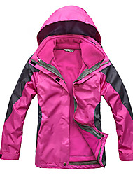 cheap -Women's Hoodie Jacket Hiking Jacket Winter Outdoor Patchwork Waterproof Windproof Fleece Lining Breathable Jacket Top Hunting Fishing Camping / Hiking / Caving Violet / Yellow / Red / Fuchsia / Green