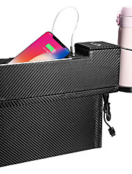 cheap -USB Charger Car Seat Crevice Storage Box Seat Gap Filler Organizer Catcher Box Cup Holder