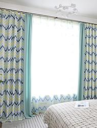 abordables -deux panneaux moderne style minimaliste ondulation de l'eau imitation chanvre couture style rideau salon chambre salle à manger rideau