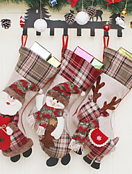cheap -Santa Claus Snowman Elk Socks Hanging Christmas Decoration Hanging Gift Bags