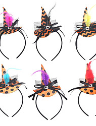 cheap -Halloween Party Decoration Witch hat Feather Headband Dress Fancy Dress for Children Head