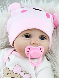 cheap -NPKCOLLECTION 22 inch NPK DOLL Reborn Doll Girl Doll Reborn Toddler Doll Baby Girl Reborn Toddler Doll Reborn Baby Doll Newborn lifelike Gift Cloth 3/4 Silicone Limbs and Cotton Filled Body with