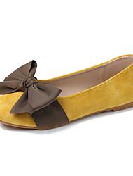 cheap -Women's Flats Flat Heel Round Toe PU Fall Light Brown / Yellow / Beige