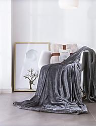 cheap -Bed Blankets / Children's Blankets / Multifunctional Blankets, Solid Colored Velvet Warmer Super Soft Blankets