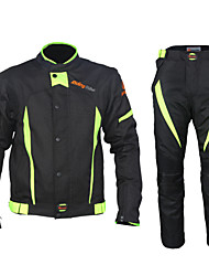 cheap -Men's Motorcycle Racing Suit with Waterproof Liner Cycling Jacket with Pants Black Bike Clothing Suit Quick Dry Breathable Sports Mountain Bike MTB Road Bike Cycling Clothing Apparel