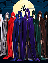 cheap -Witch Vampire Coat Cosplay Costume Cloak Party Costume Costume Adults' Men's Cover Up Halloween Christmas Halloween Carnival Festival / Holiday Satin Velvet Black / Brown / White Men's Women's