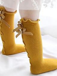 Недорогие -Дети (1-4 лет) Девочки Однотонный Белье / носки Черный