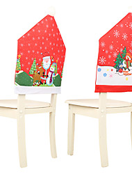 cheap -Christmas Chair Seat Cover Santa Claus Decoration Home Table Chair Covers Christmas Holiday Hotel Decoration Cover