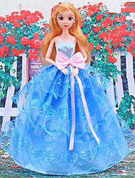 cheap -Doll Dress Party / Evening For Barbiedoll Organza Sequin Dress For Girl's Doll Toy