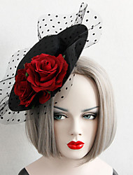 cheap -Women's Dainty Statement Vintage Fabric Alloy Hat Hair Clip Party Halloween