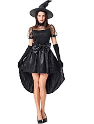 cheap -Witch Halloween Props Adults' Women's Halloween Halloween Festival / Holiday polyester fibre Black Women's Carnival Costumes