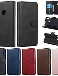 cheap -Case For Huawei Honor 9X Honor 9X Pro Phone Case PU Leather Material Solid Color Pattern Phone Case for Huawei Honor 10 Lite Honor 8A Honor 8S Honor 7A Nova 3i Nova 3E Nova 4E Nova 5i Honor10i