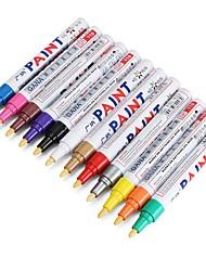 Недорогие -12 шт. Цвет шин перманентная краска ручка шин металлическая наружная маркировка чернила маркер модный