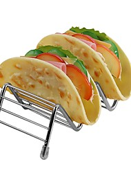 cheap -Food Holder Stainless Steel Taco Display Stand Up Holder Food Rack Shell Party Hotel Rack Holder