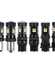 cheap -1Pcs LED Brake Lights Turn Signal Lamp Bulb Dual Color White Yellow 1156 1157 7440 7443 3156 3157